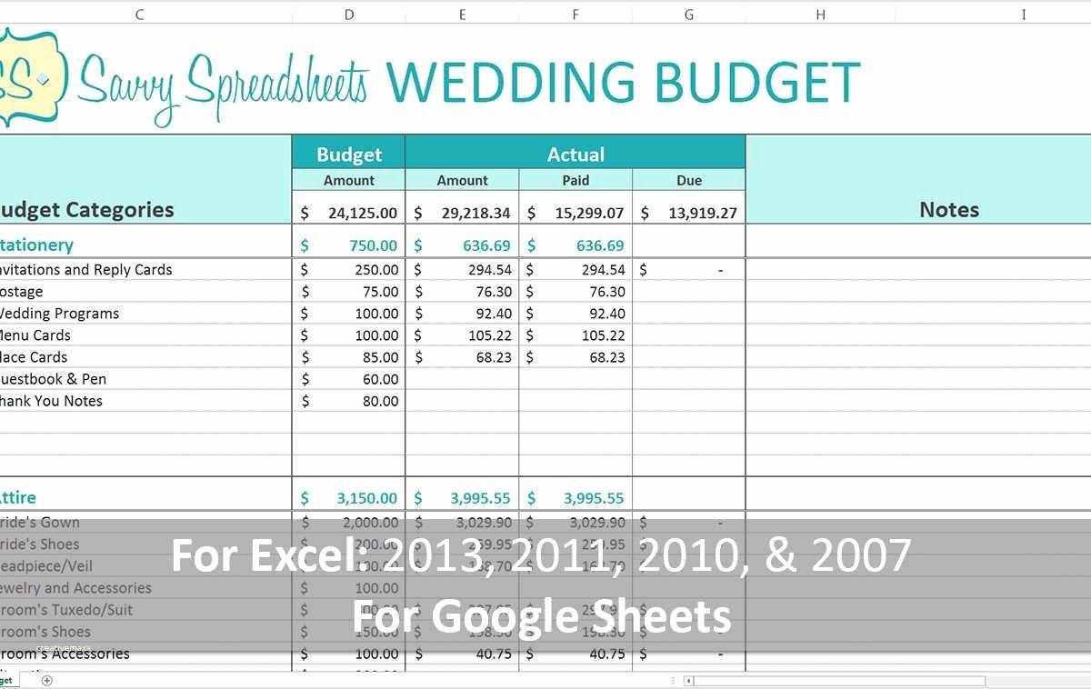 Wedding Checklist Excel Template Fresh 6 7 Wedding Planning Checklist In Excel