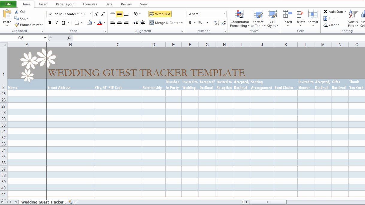 Wedding Checklist Excel Template Lovely Wedding Guest List Template In Excel Excel Tmp