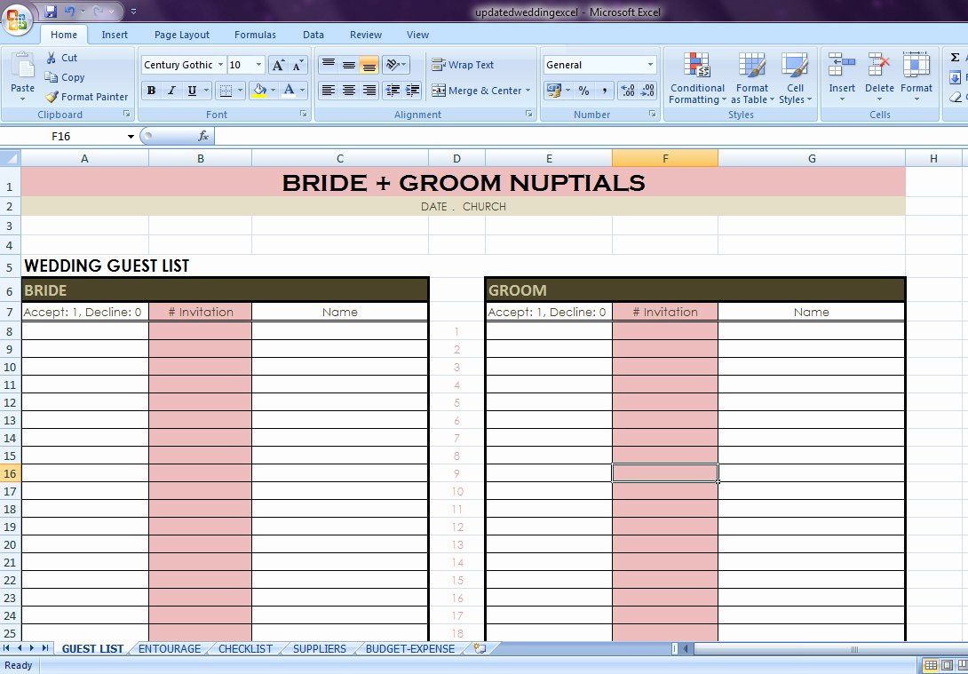 Wedding Checklist Excel Template Unique Wedding Planning Checklist Excel Spreadsheet – Spreadsheet