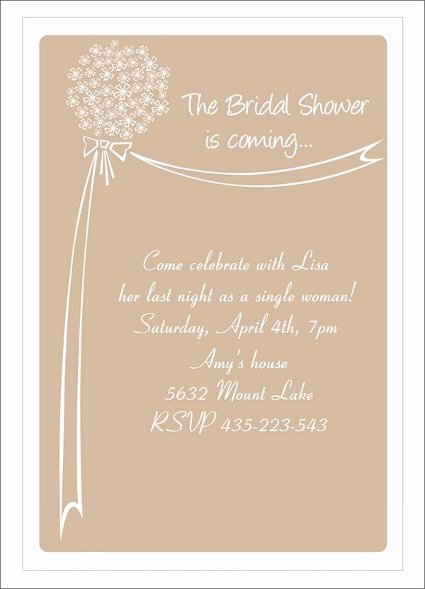 Wedding Dress Invitation Template Awesome 25 Bridal Shower Invitation Templates Download Free