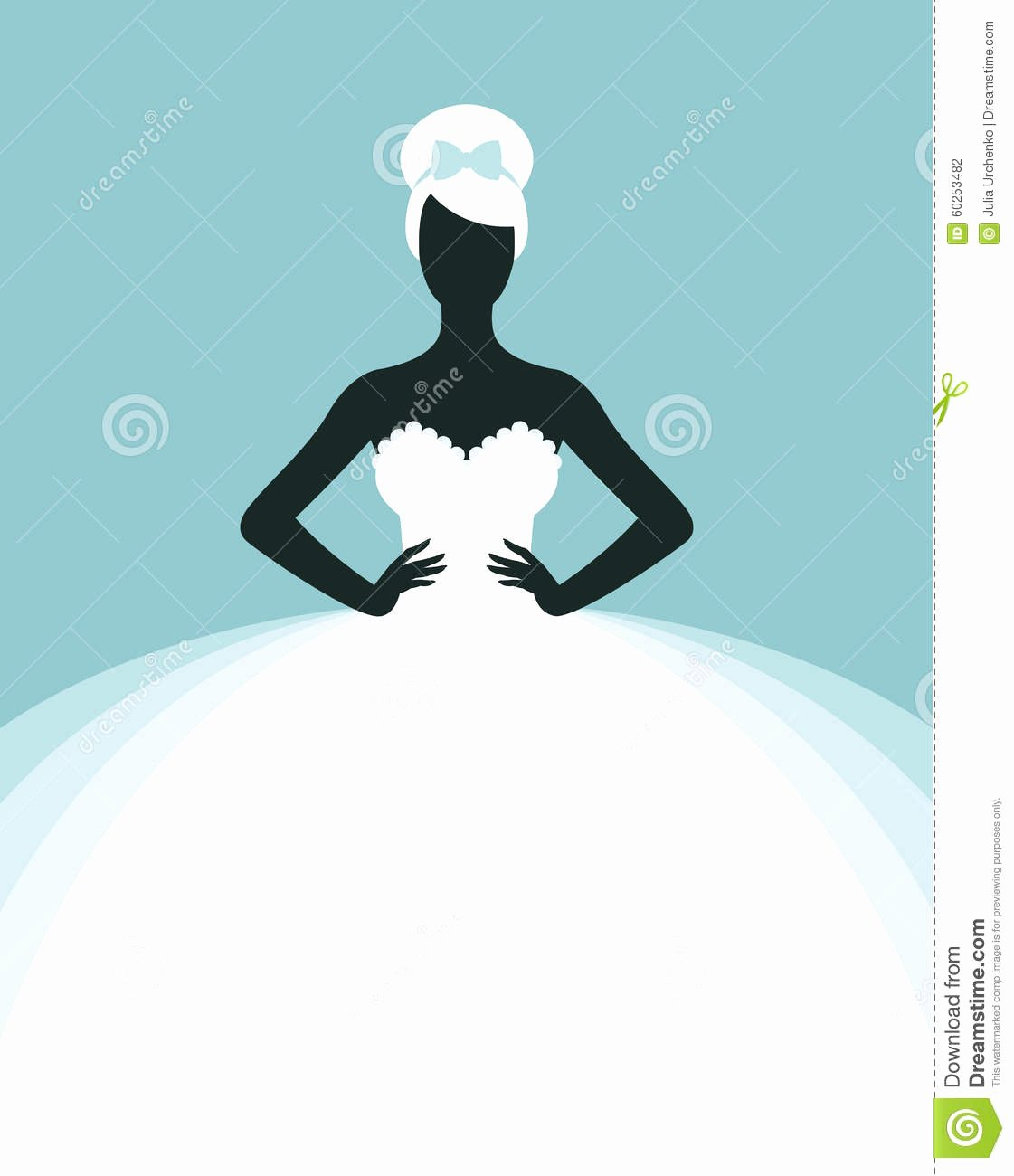 Wedding Dress Invitation Template Awesome Bride In Wedding Dress Stock Vector Image Of Female