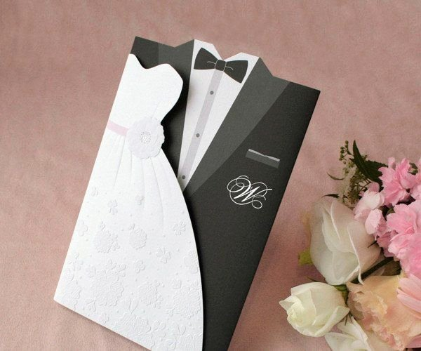 Wedding Dress Invitation Template Beautiful Embossed Wedding Invitations and Dress Template