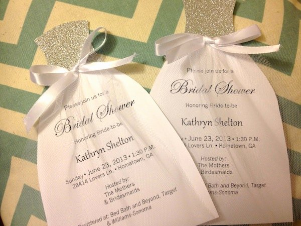 Wedding Dress Invitation Template Beautiful How to Diy Bridal Shower Invitations We Tie the Knots