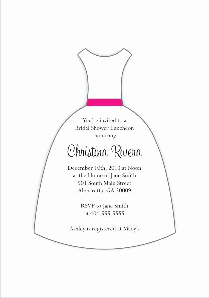 Wedding Dress Invitation Template Best Of Ballerina Dress Invitation Template Box Baby Templates