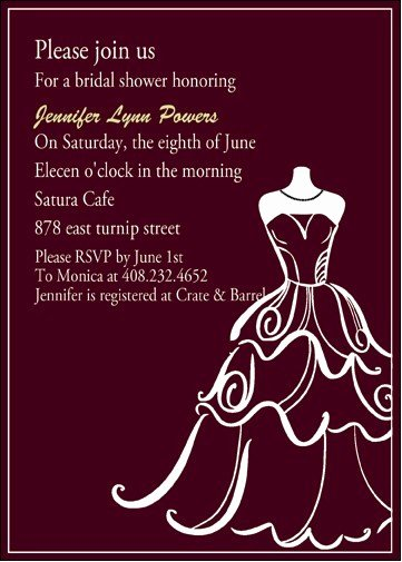 Wedding Dress Invitation Template Best Of Chic Wedding Dress Templates Bridal Shower Invitation