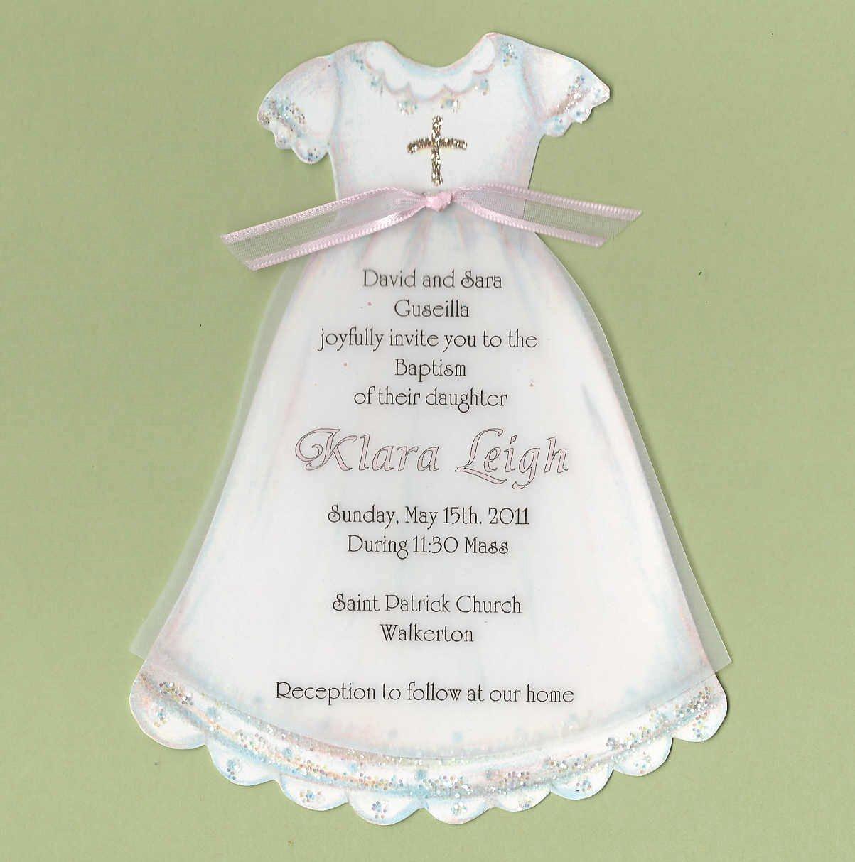 Wedding Dress Invitation Template Inspirational Baptism Dress Invitations Printable