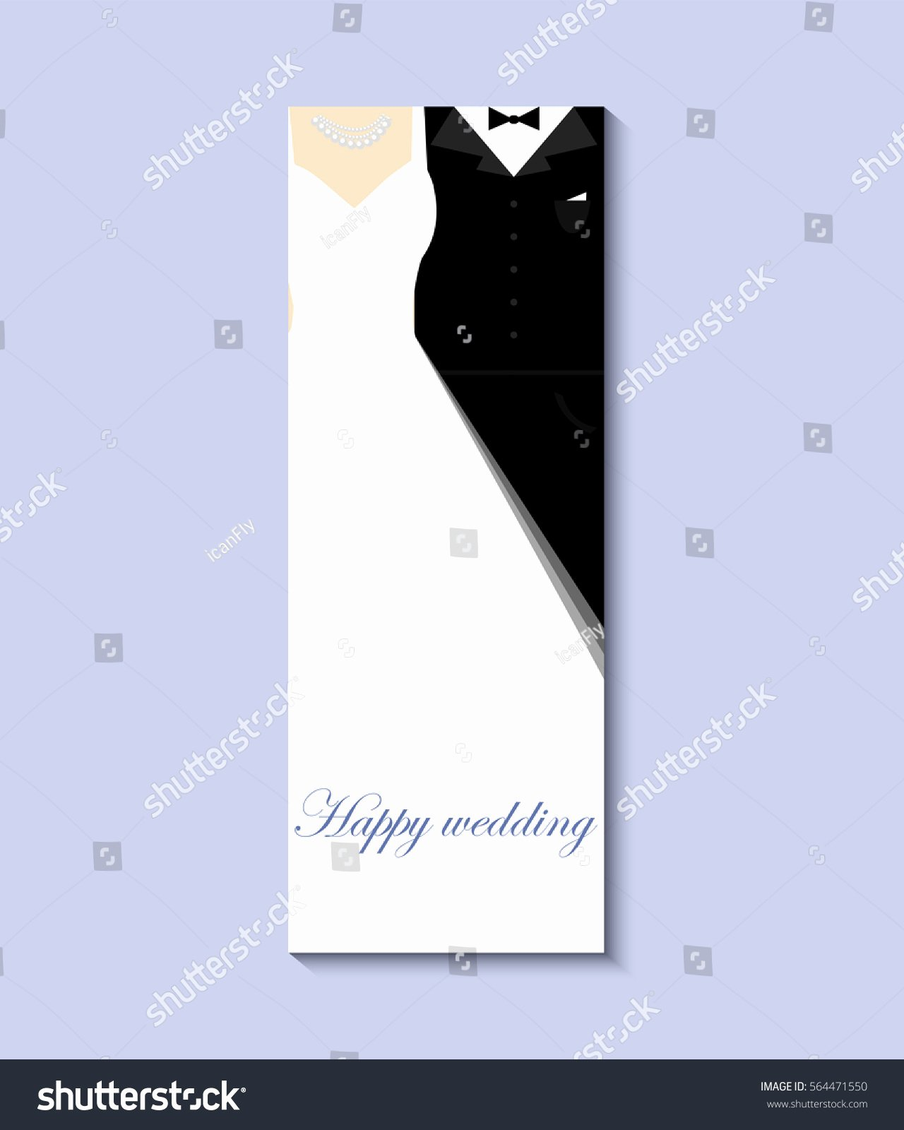 Wedding Dress Invitation Template Inspirational Bride Groom Vector 10 Eps Greeting Stock Vector