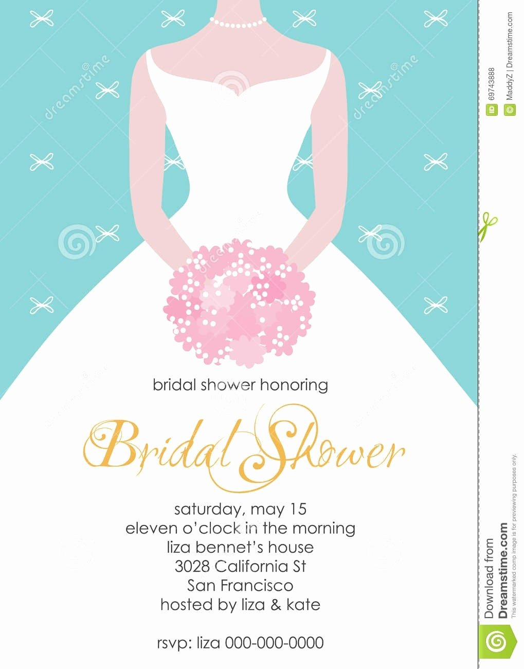 Wedding Dress Invitation Template Inspirational Cool Dress Bridal Shower Invitations Latest Trend