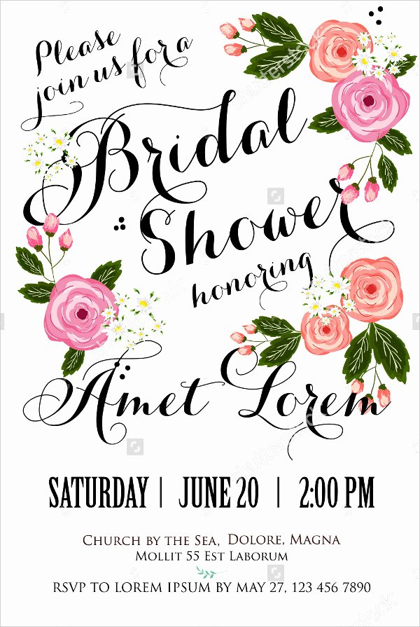 Wedding Dress Invitation Template Luxury 20 Bridal Shower Invitations Free Psd Vector Eps Png