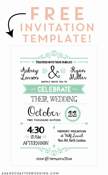 Wedding Invitation Email Template Beautiful Free Printable Wedding Invitation Template