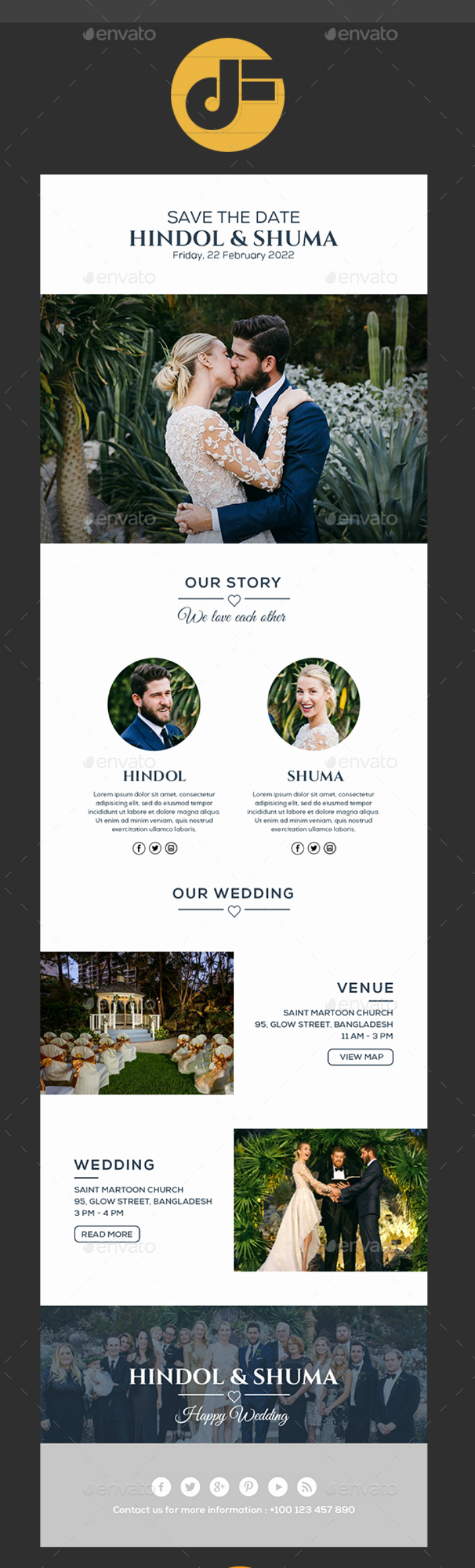 Wedding Invitation Email Template Elegant 14 Wedding Email Designs & Templates Psd Ai