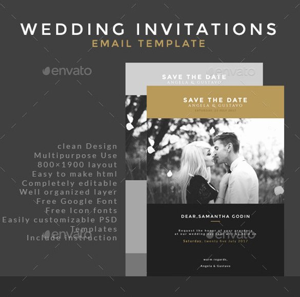 Wedding Invitation Email Template Elegant 15 Email Invitation Template Free Sample Example