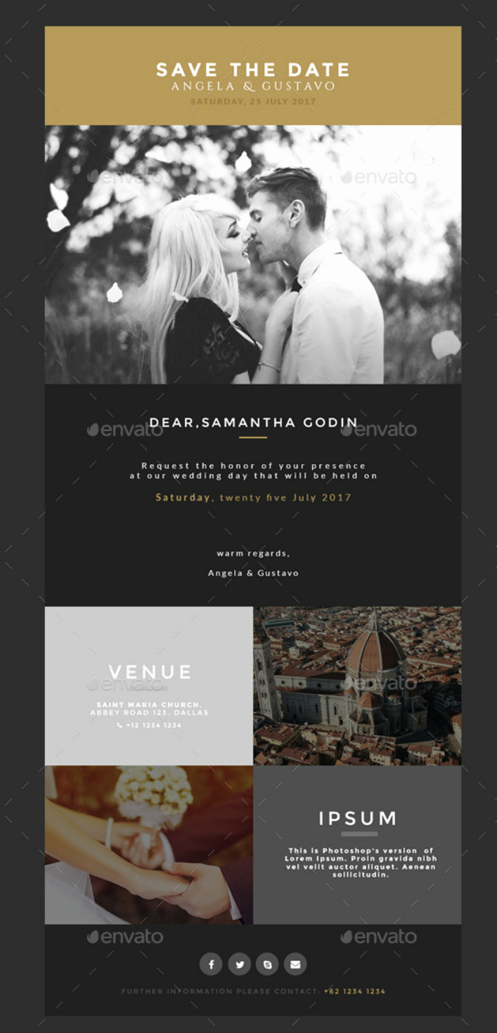 Wedding Invitation Email Template Inspirational 14 Wedding Email Designs & Templates Psd Ai