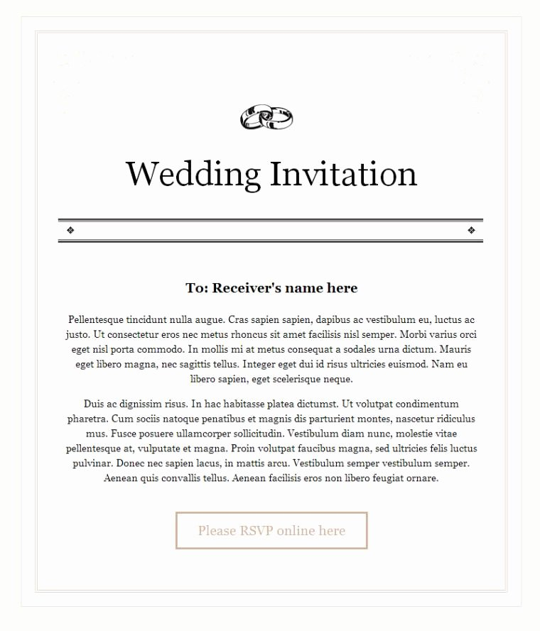 Wedding Invitation Email Template Inspirational Wedding Invitation Email Sample