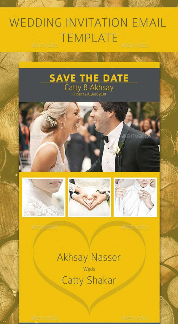 Wedding Invitation Email Template New 8 Wedding E Mail Invitation Templates Psd Ai Word