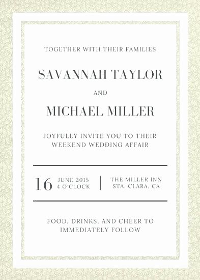 Wedding Invitation Email Template New Marriage Invitation Email format for Colleagues Wedding