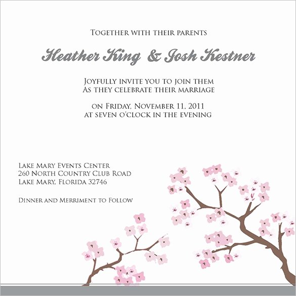 Wedding Invitation Template for Word Best Of Wedding Invitation Template 71 Free Printable Word Pdf