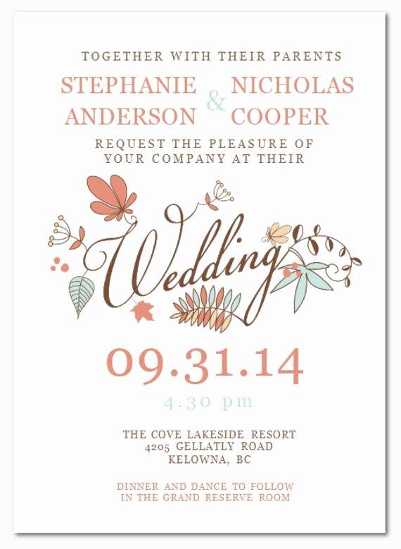 Wedding Invitation Template for Word Fresh Wedding Invitation Templates Microsoft Word Wedding