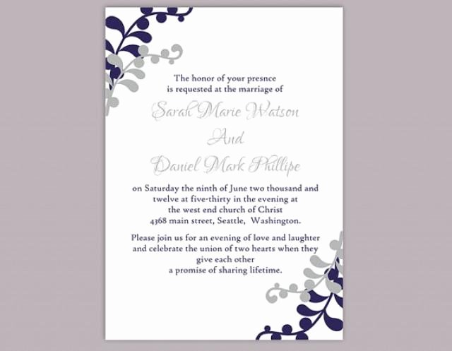 Wedding Invitation Template for Word Inspirational Diy Wedding Invitation Template Editable Word File Instant