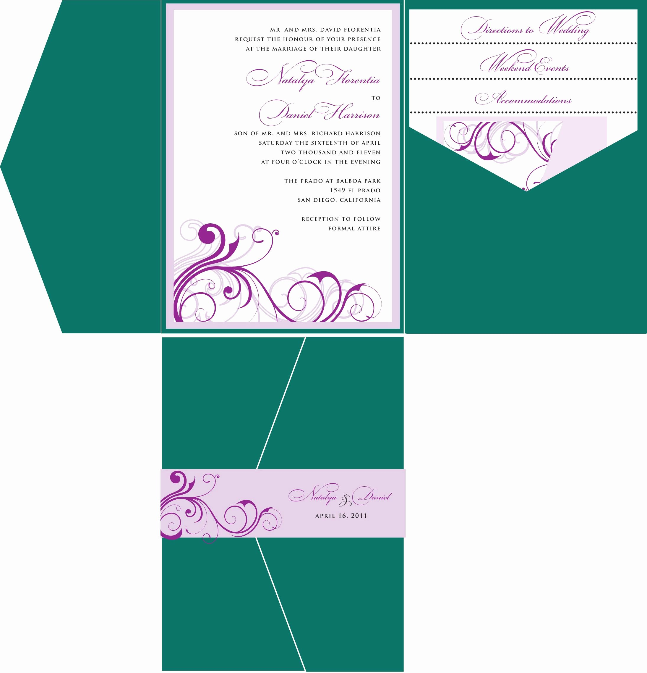 Wedding Invitation Template for Word Inspirational Wedding Invitations Template Wedding Invitations