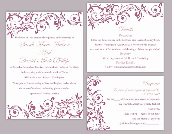 Wedding Invitation Template for Word Luxury Diy Wedding Invitation Template – orderecigsjuicefo