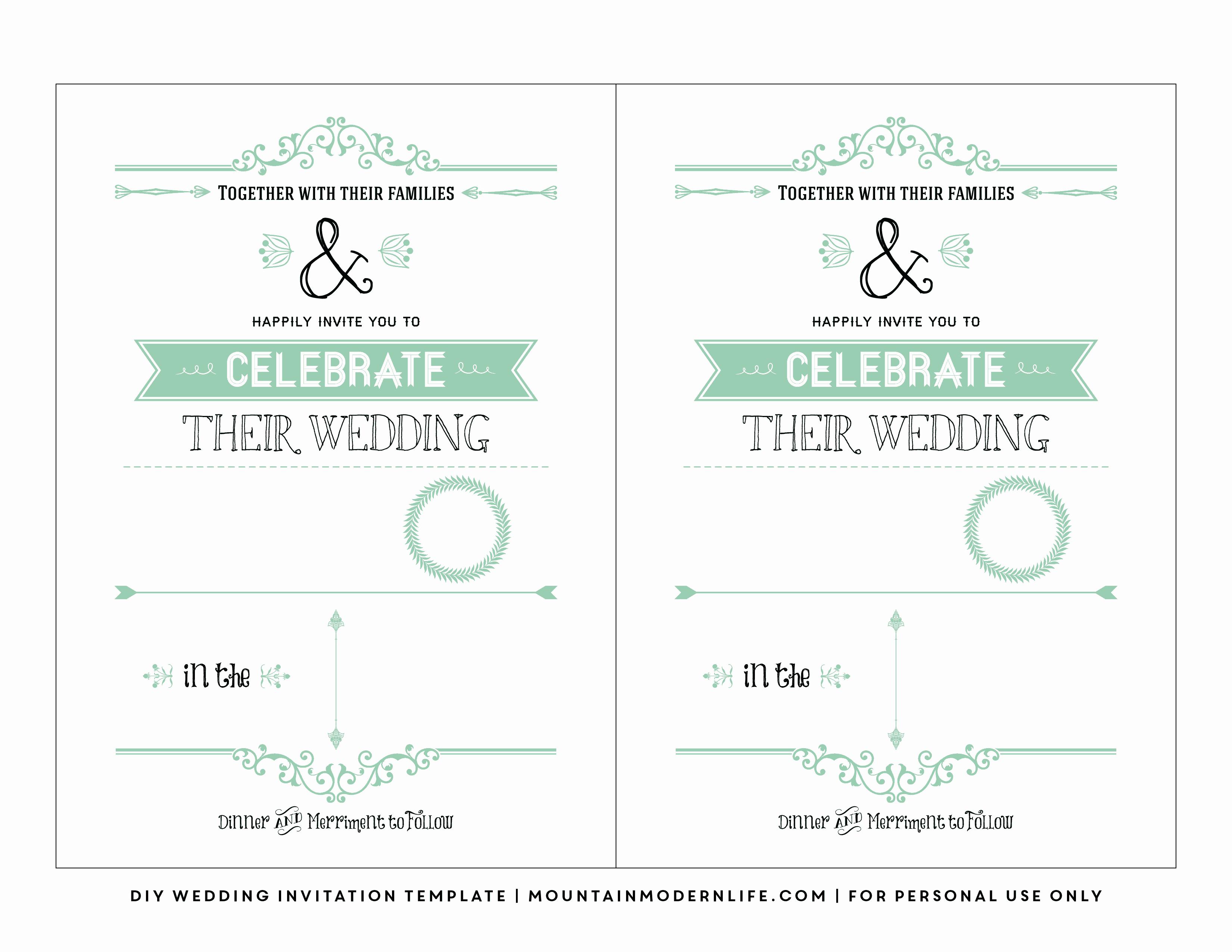 Wedding Invitation Template for Word Unique Free Wedding Invitation Template