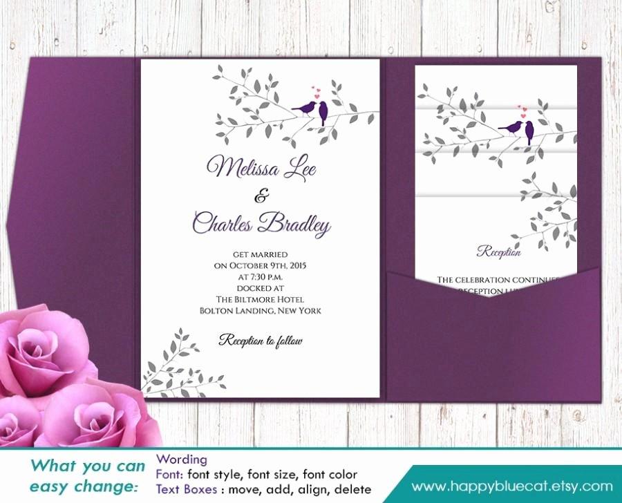 Wedding Invitation Template Microsoft Word Awesome Diy Pocket Wedding Invitations Templates Diy Design Ideas