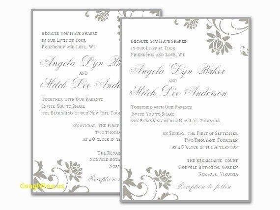 Wedding Invitation Template Microsoft Word Beautiful Download Free Wedding Invitation Templates for Word