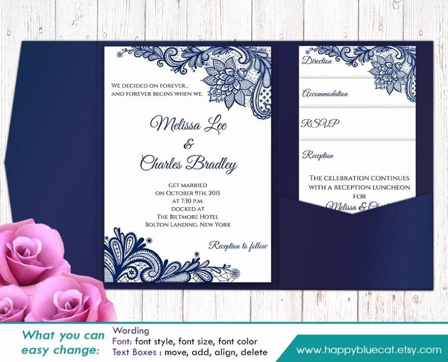 Wedding Invitation Template Microsoft Word Best Of Sale Printable Pocket Wedding Invitation Template Set