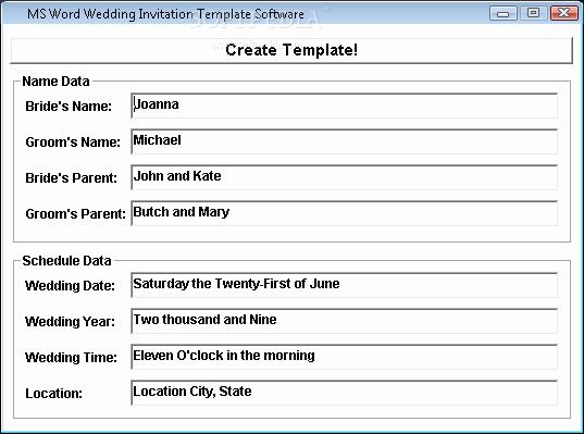 Wedding Invitation Template Microsoft Word Inspirational Ms Word Wedding Invitation Template software Download
