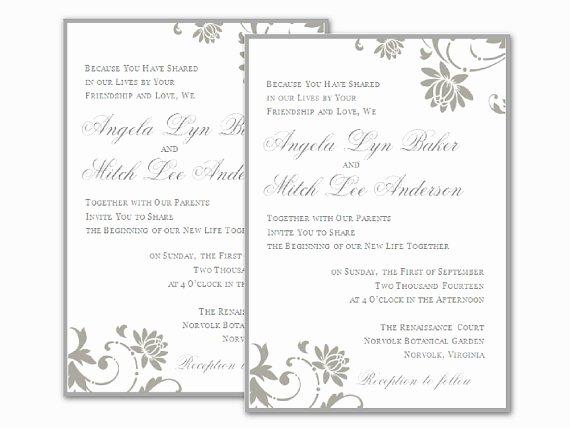 Wedding Invitation Template Microsoft Word Luxury Free Wedding Invitation Templates for Word