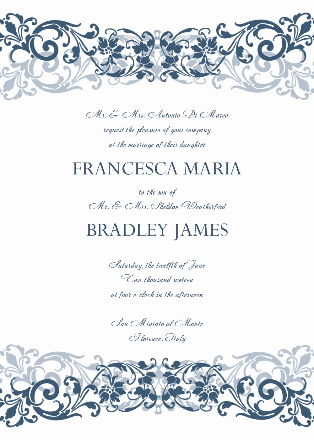 Wedding Invitation Template Microsoft Word New 8 Free Wedding Invitation Templates Excel Pdf formats