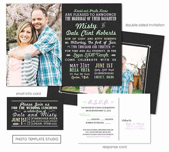Wedding Invitation Template Photoshop Awesome 30 Chalkboard Invitation Templates Free Psd Vector Eps
