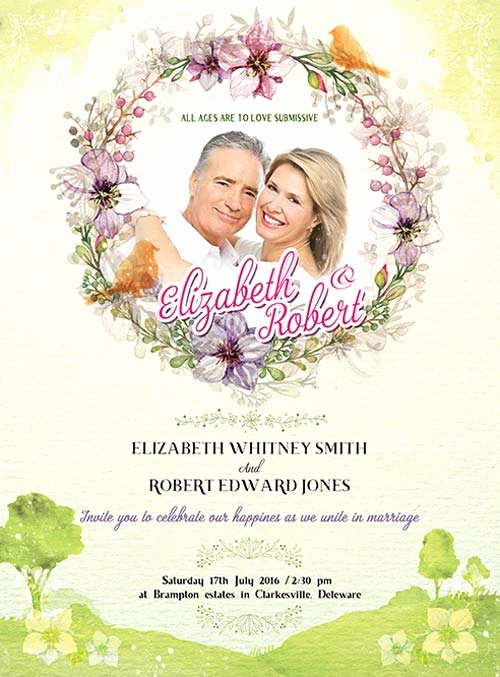 Wedding Invitation Template Photoshop Best Of Wedding Invitation Free Psd Flyer Template Download for