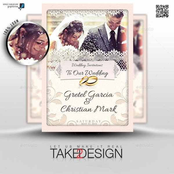 Wedding Invitation Template Photoshop Lovely 50 Cool Psd & Indesign Wedding Invitation Template