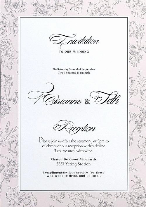 Wedding Invitation Template Psd Awesome Wedding Invitations Photoshop Template – Voipersracing