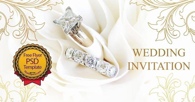 Wedding Invitation Template Psd Inspirational Wedding Invitation Free Psd Flyer Template Free Download