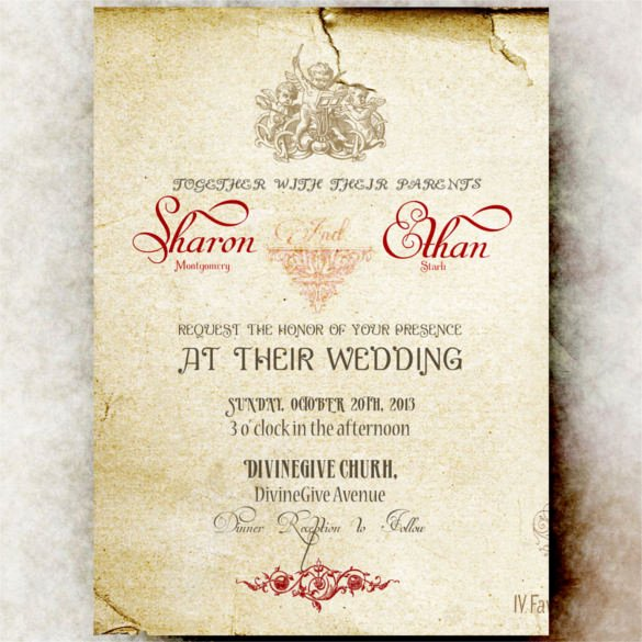 Wedding Invitation Template Psd Lovely 24 Vintage Wedding Invitation Templates Psd Ai