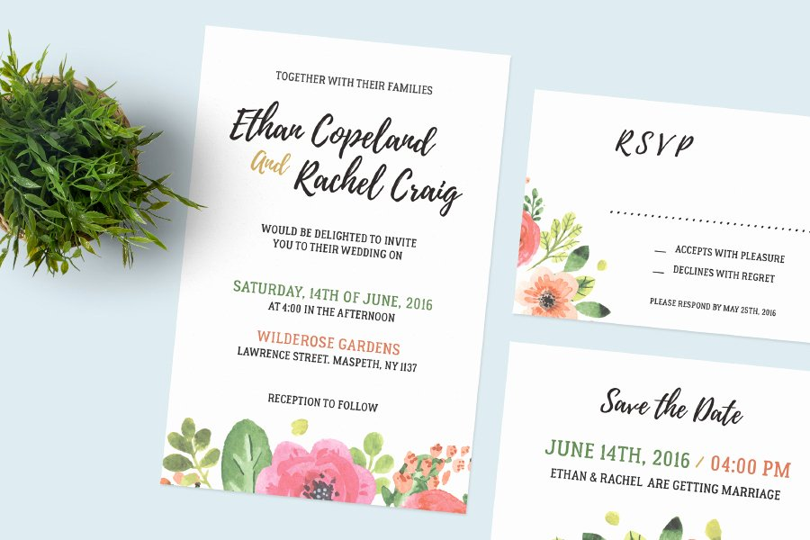 Wedding Invitation Template Psd Luxury Wedding Invitation Set Free Psd Mockup Age themes