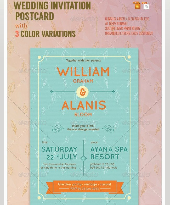 Wedding Invitation Template Psd New Indesign Wedding Invitation Templates
