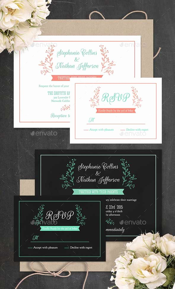 printable wedding invitation templates psd photoshop indesign