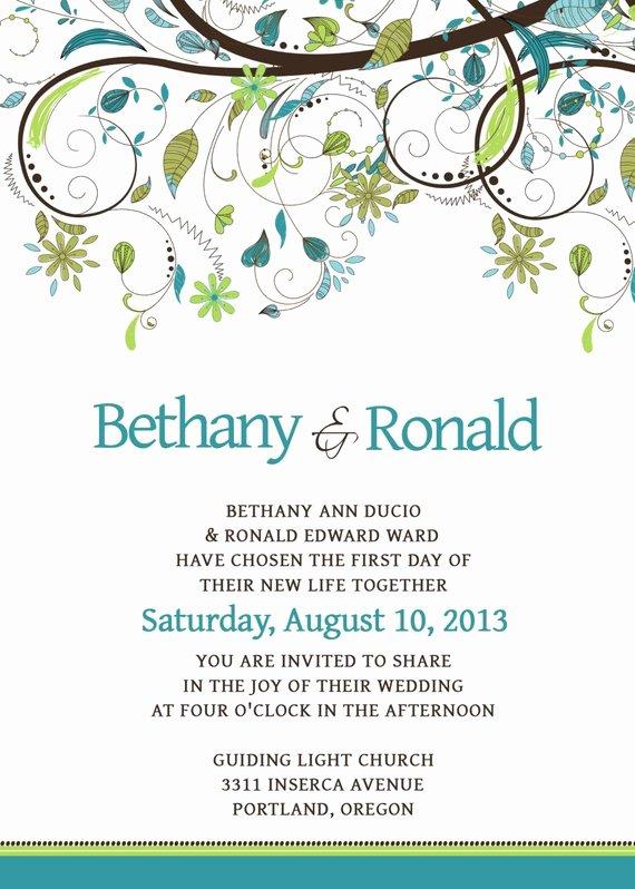 Wedding Invitation Template Psd Unique Wedding Invitation Template Set Psd by Scripturewallart On