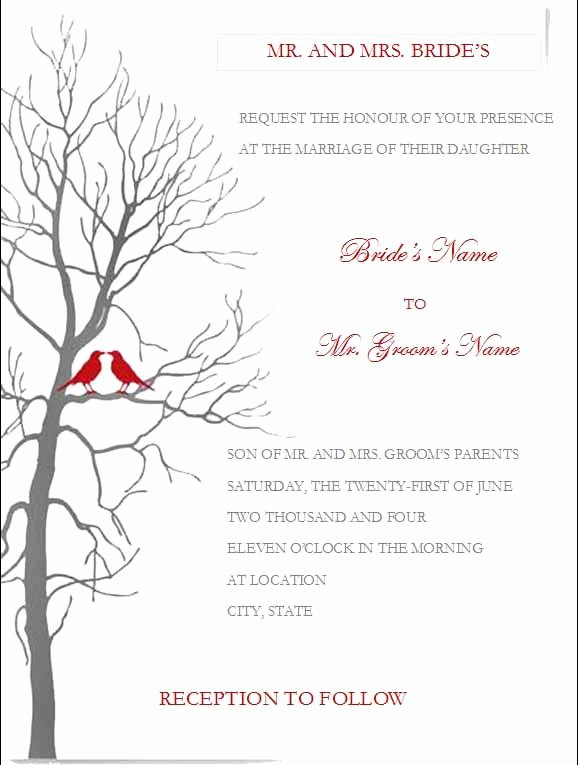 Wedding Invitation Template Word Awesome Free Wedding Invitation Templates for Microsoft Word
