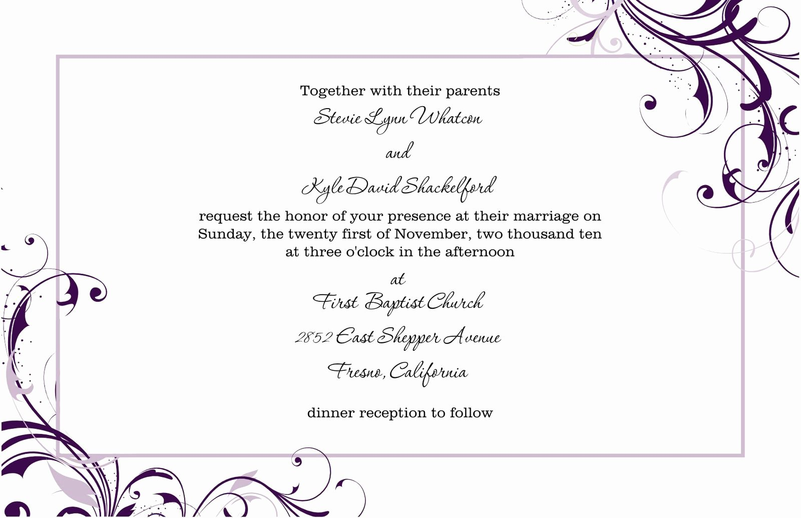 Wedding Invitation Template Word Beautiful Free Blank Wedding Invitation Templates for Microsoft Word