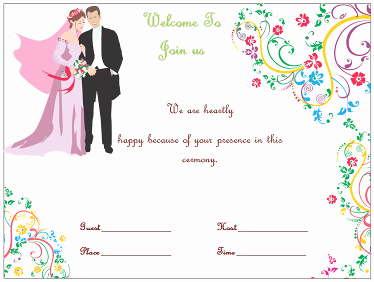 Wedding Invitation Template Word Beautiful Wedding Invitation Template S Simple and Elegant