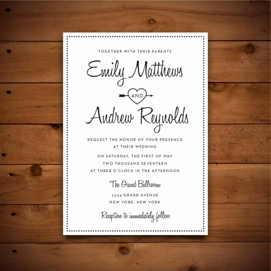 Wedding Invitation Template Word Best Of Printable Vintage Style Wedding Invitation Template Dark