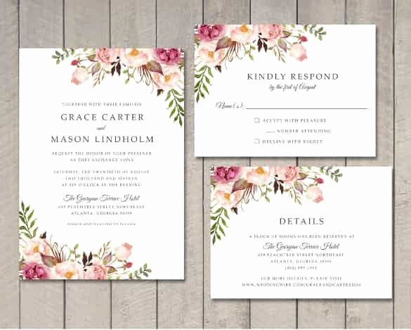Wedding Invitation Template Word Elegant Wedding Invitation Template 71 Free Printable Word Pdf