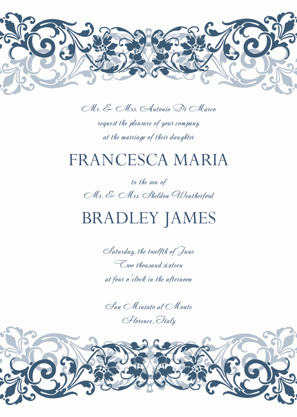 Wedding Invitation Template Word New 8 Free Wedding Invitation Templates Excel Pdf formats