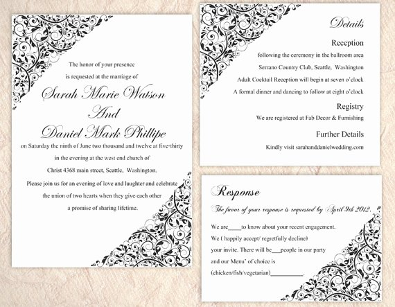 Wedding Invitation Template Word New Wedding Card Template Word Templates Data
