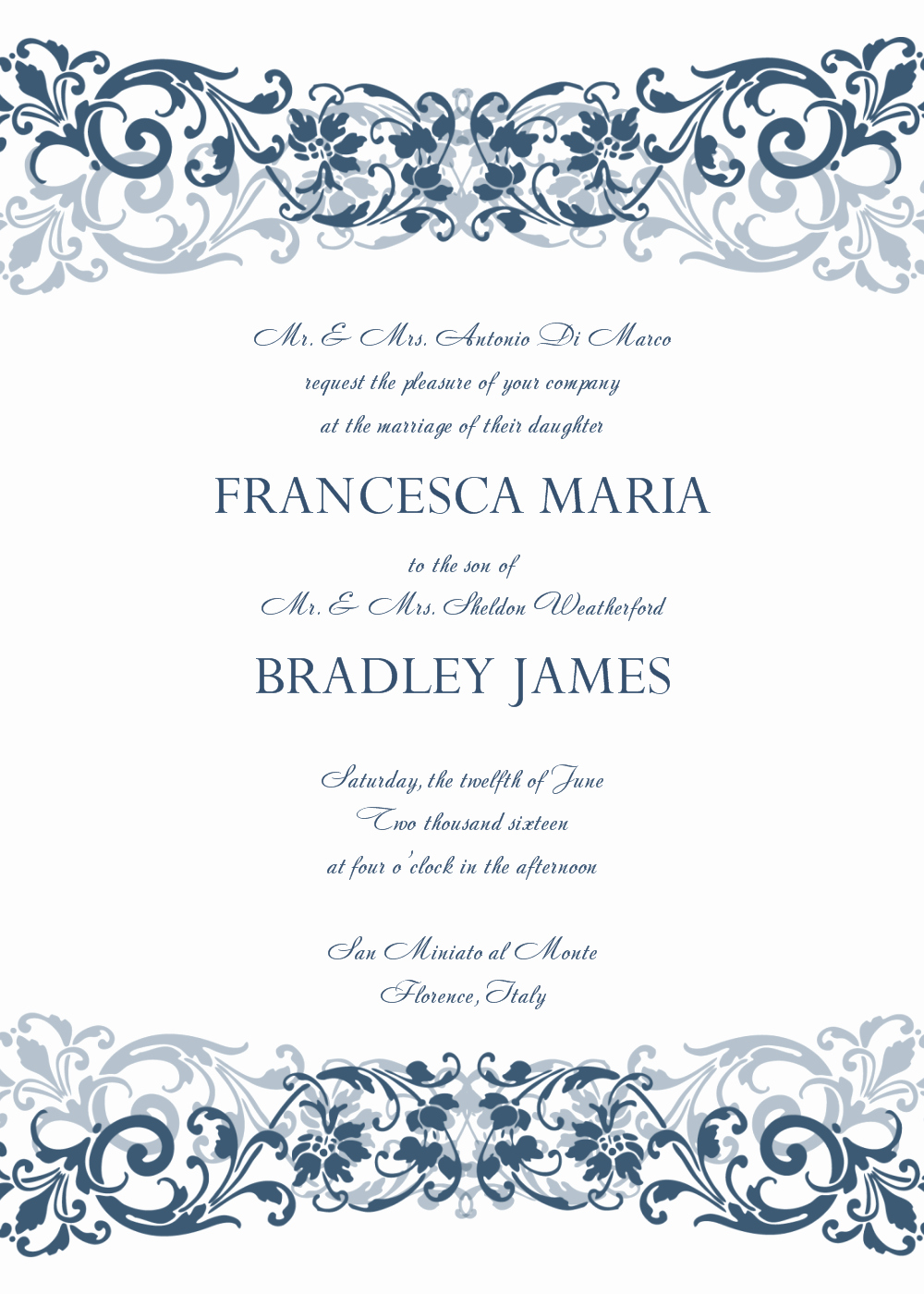 Wedding Invitation Template Word Unique 30 Free Wedding Invitations Templates